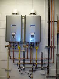 Tankless water heaters serviced